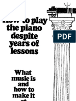 How to Play Piano Despite Years of Lessons