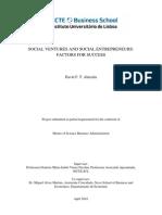Social Ventures and Social Entrepreneurs_factors for Success