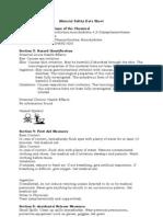 MSDS Orthophenanthroline monohydrate