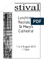 St Mary's Cathedral Festival Lunchtime Recitals Week 1