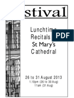 St Mary's Cathedral Festival Lunchtime Recitals Week 5