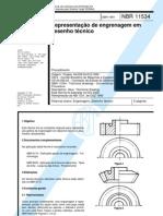 NBR 11534 Representacao de Engrenagem Em Desenho Tecnico
