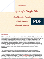 Lecture13 Analysis of Single Piles