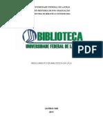 Regulamento Biblioteca UFLA