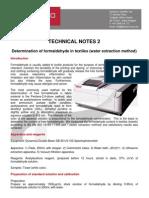 TN2-Determination of Formaldehyde in Textile