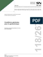 Conditions générales pour la géotechnique
