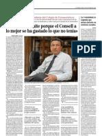 Entrevista al presidente de los farmacéuticos de Alicante