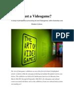 Videogames as Art PIP.