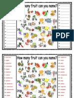 ESL - Fruit Names