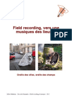 Field recording, vers une musique des lieux ?