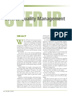 Service Quality Management Over Ip