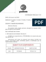 Correção apara anormalidade TF2952