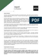 Acca F1 Examiner's Report June 2012