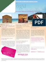 Sianna Sherman Yoga Retreat in Bermuda, October 11-13, 2013