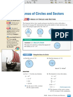 ML Geometry 11-5 Areas of Circles and Sectors