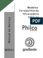 Gradiente  Philco TV1423-TF2140-TP1410-2010-TPF2130