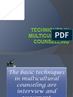 Techniques Multicultural Counseling