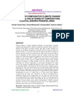 LONG YEARS COMPARATIVE CLIMATE CHANGE TREND ANALYSIS IN TERMS OF TEMPERATURE, COASTAL ANDHRA PRADESH, INDIA