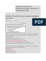 CCNA 3 Final 2012 Exam Answers Updated July 2012 (2)