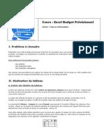 Excel Previsionnel
