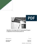 Quantity Surveyor Role in Construction Project