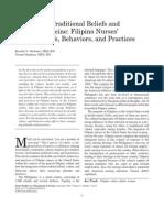 Filipino Nurses Health Beliefs Behaviors and Practices