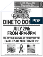 Dine to Donate fundraiser flyer