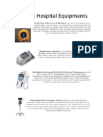 Modern Hospital Equipments
