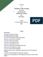 Thinking or Logic Teaching-English-Gustav Theodor Fechenr.