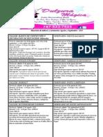 Calendario de talleres y seminarios agosto y septiembre 2013