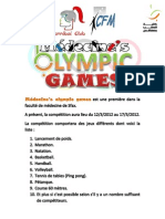 médecine_s olympic games