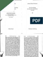 ERDMANN, J.E. Die Entwicklung Der Deutschen Spekulation Seit Kant