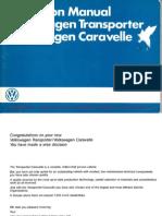 July 1985 VW T25 Instruction Manual WestfaliaT3WM