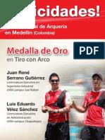 ¡Felicidades! Triunfo en Compa Mundial de Arquería en Medellín (Colombia)