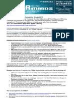 Pharma Maintenance2Reliability Minds 2013 - Main PR