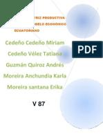 NUEVA MATRIZ PRODUCTIVA PARA EL MODELO ECONÓMICO ECUATORIANO (1)
