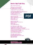 Monster High Fright Song Lyrics