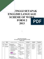 English Scheme of Work f2 2013