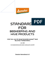 Demeter International Bee Standards 2010