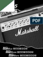 Marshall MG15CD MG15CDR MG15DFX users Manual