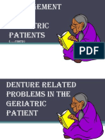 Prosthodontic Management of Geriatric Patient
