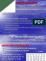Defectos Cristalinos- Clase 2009-1[1]