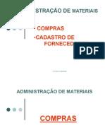 ADMINISTRAÇÃO DE MATERIAIS - COMPRAS E CADASTRO DE FORNECEDORES