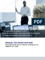S7-1200 Documentación lectura señales analógicas