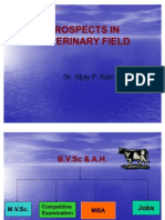 49649563 Career Prospects of Veterinary Profession in India