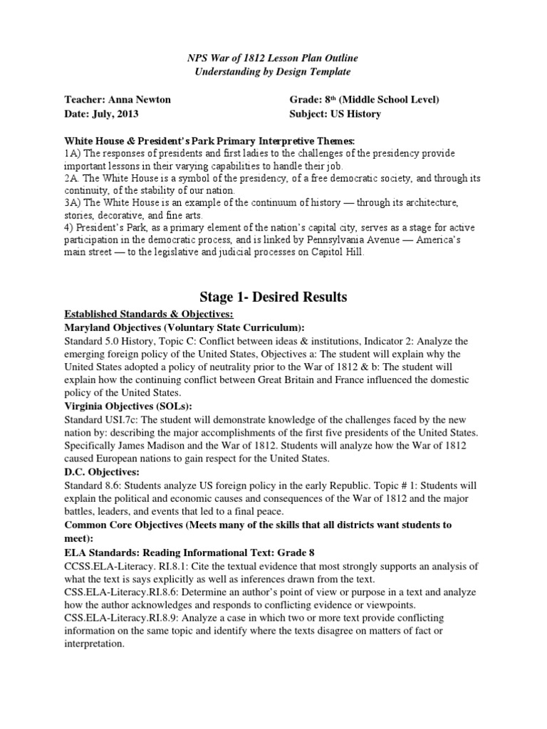 Worksheets War Of 1812 Worksheet war of 1812 middle school lesson plan argument