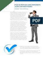 """Artigo """"Percepção de mercado como ferramenta de RI"""" (Mz Group)"""