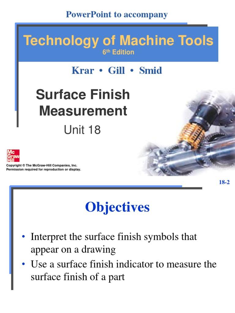 Unit18surfacefinishmeasurementppt surface roughness metalworking buycottarizona Gallery