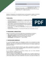Directiva para Reconocimiento de Depósitos no Identificados