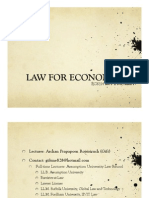 Law for Economists